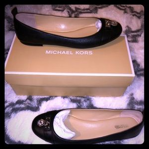 Michael Kors Hamilton Leather Ballet Shoe